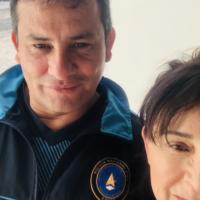 """Patricia Tapia López-Voß; """"In meiner Freizeit genieße ich es, mit meinem Tai-Chi-Lehrer zu trainierten. Er unterricht das auch bei der Polizei Guatemalas."""""""